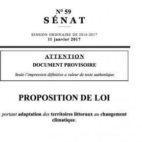 DERNIÈRE MOUTURE DE LA PPL « ADAPTATION DES TERRITOIRES LITTORAUX » : LE COMPTE N'Y EST TOUJOURS PAS !
